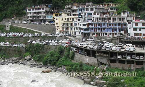 Govindghat before floods, Picture was taken in July 2011, can you see the encroachment in the river area.