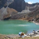 Hemkund Sahib in October 2013, the weather is clear and hardly any flower can be seen